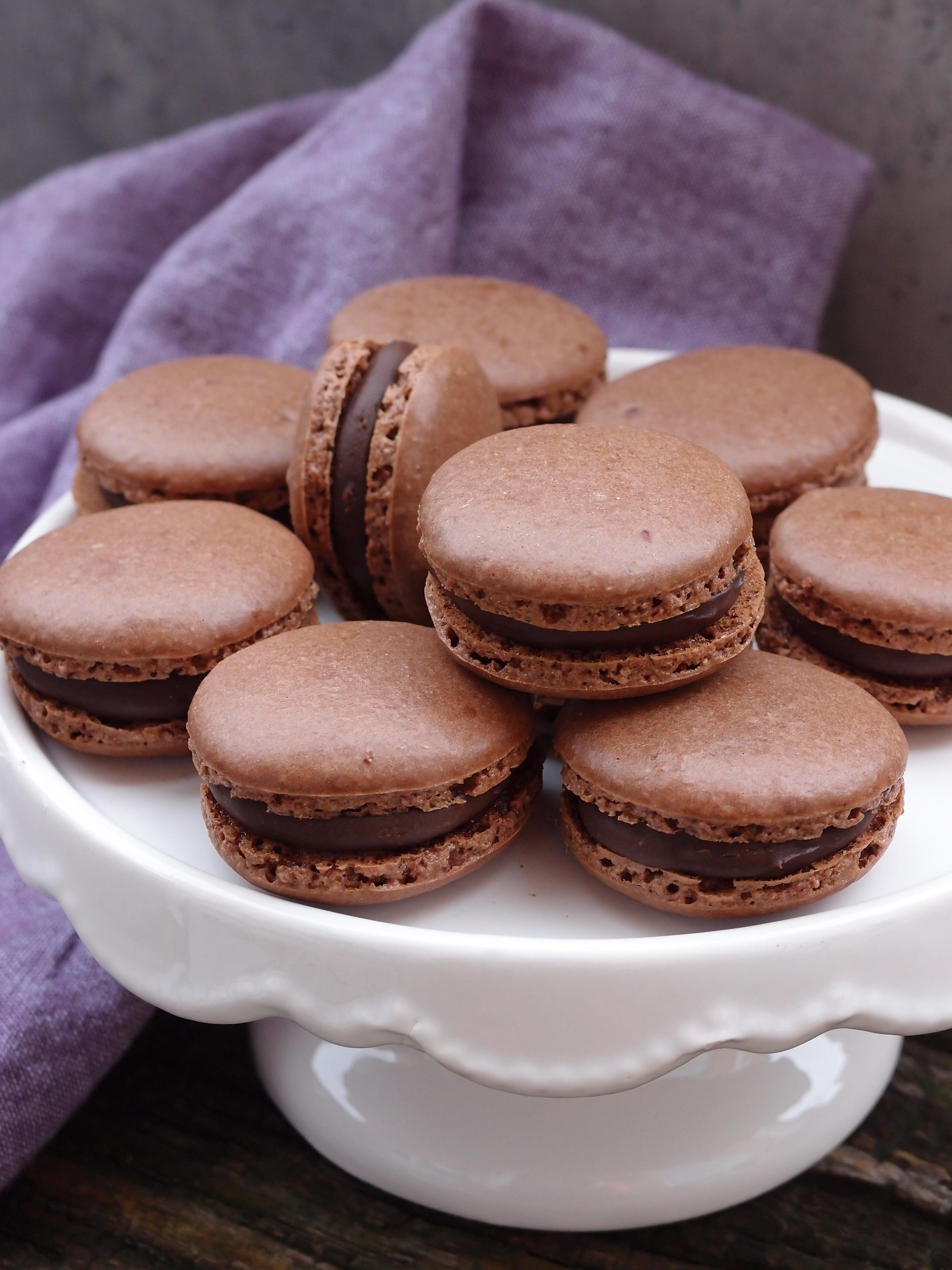 macarons fyllning choklad